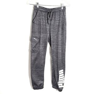 Puma spell out joggers sweatpants with pockets